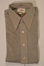Unused Vintage 1970s Arrow 'Knits' Polyester Shirt! Button Front/Short Slv! 16.5