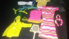 16 Pc Lot. Barbie-like Clothes & Access. Hangers, Tennis racket, sunglasses, etc