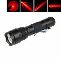 UltraFire WF-502B LED CREE Q5 300Lm Flashlight 18650 Tactical Torch Red Light R2