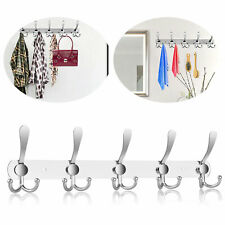 Stainless Steel 15 Hooks Wall Hanger Coat Hat Clothes Holder Bedroom Towel Rack