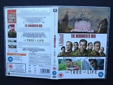 3-DVD Boxset Monuments Men | Grand Budapest Hotel | Tree Of Life George Clooney