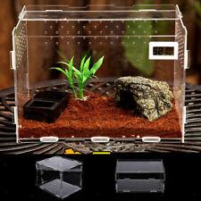 2 Stück klar Acryl Insekt Reptil Transport Zucht Box Lebensmittel