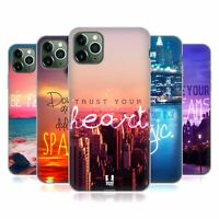 HEAD CASE DESIGNS WORDS TO LIVE BY 4 SOFT GEL CASE FOR APPLE iPHONE PHONES
