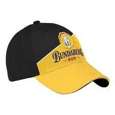 125024 BUNDABERG BUNDY RUM BLACK & GOLD ADJUSTABLE SNAP BACK BASEBALL HAT CAP