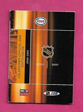 RARE 2000-01 ESSO NHL POCKET SCHEDULE (WAYNE GRETZKY ON BACK ) (INV# C2167)