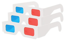 50 Pack 3D Glasses - Red and CYAN Anaglyph, White Frame Multipack