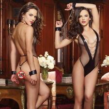 Sexy Women Lingerie Strap Underwear Babydoll Chain Harness Mash Lace Sleepwear