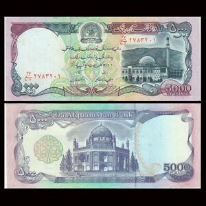 Afghanistan 5000 Afghanis, 1993, P-62, Banknote, UNC