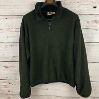 Woolwich Mens sz XL Green Polartec Fleece Half Zip Made in USA