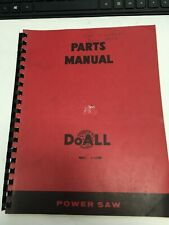 Doall C 1220m Power Saw Parts Manual