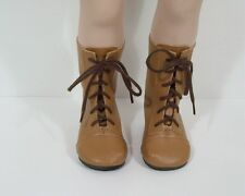 """LT BROWN Lace Up LaceUp Boots Doll Shoes For 23"""" My Twinn Poseable (Debs)"""