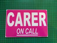 CARER On Call AT work Custom Dashcard dash card Home help Window Card Sticker