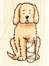 PLASTERED DOG - Wood Mounted Rubber Stamp - Funstamps / Personal Impressions