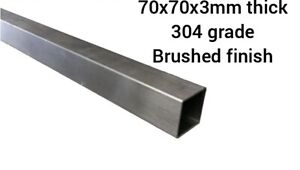 70mmx70mmx3mm thick square box section. 304 grade. Brushed Finish