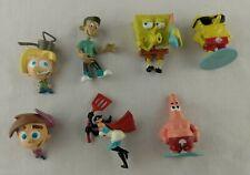 Spongebob Jimmy Neutron Crimson Chin Odd Parents Figures/Cake Toppers Viacom Lot