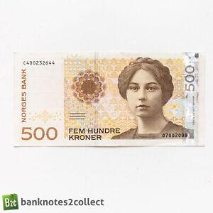 NORWAY: 1 x 500 Norwegian Krone Banknote.