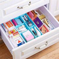 Adjustable New Drawer Organizer Home Kitchen Board Divider Makeup Storage Box XS