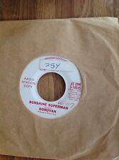 45 RPM Single--- DONOVAN:  SUNSHINE SUPERMAN  &  THE TRIP Red Vinyl Promo
