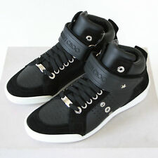 2528a38d7910 JIMMY CHOO logo strap star studded shoes leather Lewis hi top sneakers 39  NEW