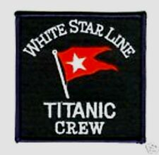 FANCY DRESS MOVIE PROP WHITE STAR LINE RMS TITANIC CREW MEMBER IRON-ON PATCH
