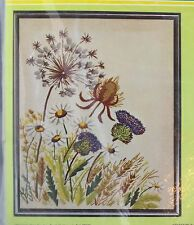 Spinners Stitchery Crewel Embroidery Cross Stitch Kit Thistles Daisy Flowers