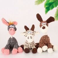 Puppy Chew Squeaker Pet Dog Toys Squeaky Plush Sound Animal Shape Molar Toys Cxz