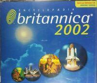 Encyclopedia Britannica 2002 Dlx Edition PC CD-3 Disc Set-RARE