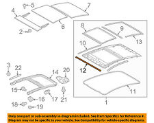TOYOTA OEM 10-15 Prius Sunroof-Front Molding 6321547010