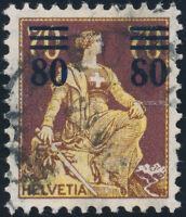 SCHWEIZ 1915, MiNr. 127 I, gestempelt, Befund Liniger, Mi. 450,-
