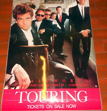 HUEY LEWIS AND THE NEWS ORIGINAL 88 SMALL WORLD AUSTRALIAN IN STORE PROMO POSTER