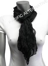 Foulard Noir 55x160 femme mixte chale leger echarpe NEUF scarf black bufanda