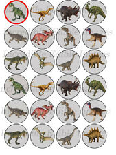 24 x 4cm Dinosaur Icing Cupcake Toppers
