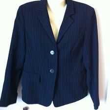 Jones New York Pin Stripe Black Blazer Jacket size 6