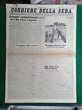 CORRIERE DELLA SERA 12/10/1943 , ACCANITI COMBATTIMENTI MAR D'AZOV E ZAPOROJE
