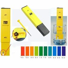 Digital PH Meter Tester Pocket Portable Pool Water Aquarium Hydroponic Wine QE