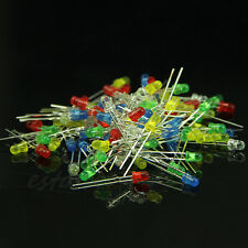 100pcs 3mm Diffused White Yellow Red Green Blue Assorted Superbright LED