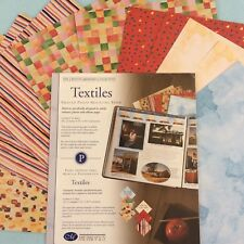"Creative Memories 10"" X 12"" TEXTILES PRINTED PHOTO MOUNTING PAPER - 12 SHEETS"