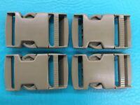 """4 ITW Nexus Camo 1.5""""Buckle Backpack Webbing Strap Plastic Clip Tan Camo 1 1/2"""""""