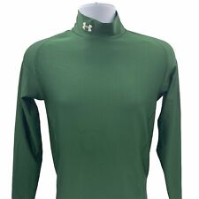 Mens Under Armour Compression Green Long-Sleeved Shirt Large