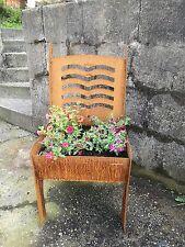Edelrost Metall Schale Planzschale stuhl zum bepflanzen bank klein