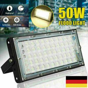 50W LED Baustrahler Flutlicht Strahler Scheinwerfer Fluter Arbeitsleuchte IP65