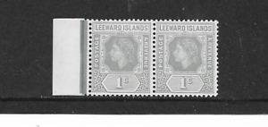 1954 LEEWARD ISLANDS - QUEEN ELIZABETH 11 - HORIZONTAL PAIR - MINT NEVER HINGED.