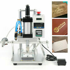 Pneumatic Hot Foil Stamping Machine 8x10cm For Leather Pu Pvc Wood Paper Press