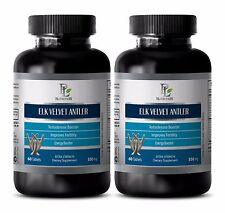 Testosterone booster for men - ELK VELVET ANTLER 550 mg -Delays aging process-2B