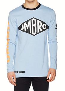 House of Holland Mens Umbro Long Sleeve T-Shirt Blue Shirt size S BNWT RRP £75