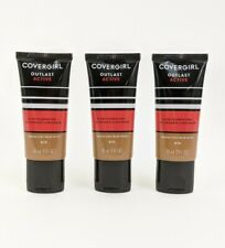 Covergirl Lot of 3  Outlast Active Foundation + Sunscreen 870 Toasted Almond