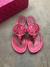 5837bbcb0bb41 TORY BURCH Miller Pink Fuchsia Leather Thong Fuchia Sandal Sz 7  D3