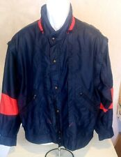 Vintage Fila Made In Italy Waffle Cut Windbreaker Lined Jacket Size Small Unique