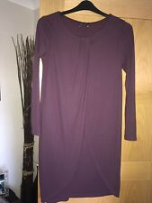 M&S COLLECTION TUNIC DRESS BURGUNDY STRETCH 10 12 NEW WITH TAGS
