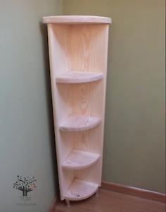 c5 Corner Shelf | Freestanding Corner Cabinet | Corner Bookshelf | Solid Pine